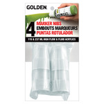 GOLDEN Marker Nibs 4 Pack High Flow & Fluid Acrylic Bottles