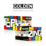 GOLDEN SoFlat Matte Acrylic Paint Sets