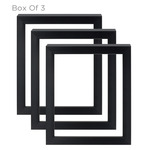Gotham Black Ready Made Frame Box of 3 24X24""