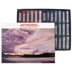 Great American Artworks Soft Pastels Set of 39 - Grey Box