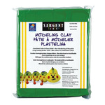 Sargent Art 1lb Non-Hardening Modeling Clay Green