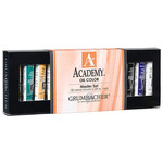 Grumbacher Academy Oil Color Master Set of 12, 24ml Tubes