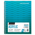 Grumbacher Acrylic Paper Pad 140lb 9x12in Spiral In/Out Page