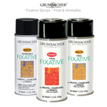 Grumbacher Fixative Sprays - Final & Workable