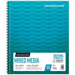 Grumbacher 90lb Mixed Media Pad 11x14in-50 Sheets Spiral In/Out