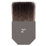 Gilders Tip Natural Squirrel Brush Double Thick 2 Inch