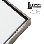 Illusions Frame Antique Silver Top & Sides 3/4in Deep 18X18