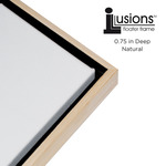 Illusions Frame Black/Natural For 3/4in Deep Canvas 30X30