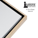 "Illusions Floater Frame for 3/4"" Canvas 9x12"" - Solid Natural"