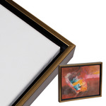 "Illusions Floater Frame for 3/4"" Canvas 24x30"" - Gold/Walnut"
