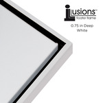 """Illusions Floater Frame for 3/4"""" Canvas 12x16"""" - White/Black"""
