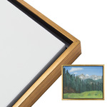 "Illusions Floater Frame 9x12"" Antique Gold for 3/4"" Canvas"
