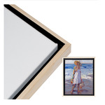 """Illusions Floater Frame 30x30"""" Natural/Black for 3/4"""" Canvas"""