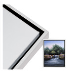 """Illusions Floater Frame 20x24"""" White for 3/4"""" Canvas"""