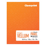 Clearprint 1000H Plain Field Books, Ink Block Panel™ 8.5x11 16lb/60GSM 50 Sheets