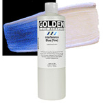 Golden Fluid Acrylic 16 oz Bottle - Interference Blue (Fine)