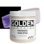 GOLDEN Heavy Body Acrylic 8 oz Jar - Interference Violet