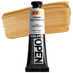 Golden Open Acrylic 2 oz Tube - Iridescent Bright Gold (Fine)