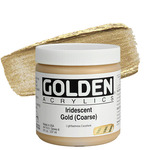 GOLDEN Heavy Body Acrylic 8 oz Jar - Iridescent Gold (Coarse)