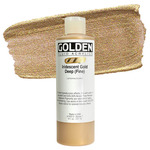 Golden Fluid Acrylic 8 oz Bottle - Iridescent Gold Deep (Fine)