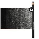 Jerry's Jumbo Jet Charcoal Pencil Set of 12, Black 5.5mm lead