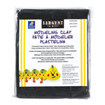 Sargent Art 1lb Non-Hardening Modeling Clay Jet Black