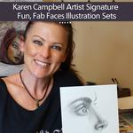 Karen Campbell Signature Fun, Fab Faces Illustration Sets