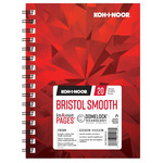 Koh-I-Noor 270G Smooth Bristol Pad 5.5x8.5in-20 Sheet Spiral In/Out