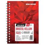 Koh-I-Noor 270G Vellum Bristol Pad 5.5x8.5in-20 Sheet Spiral In/Out