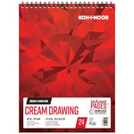 Koh-I-Noor 90lb Draw Pad Cream 11x14in-24 Sheet Spiral In/Out