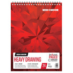 Koh-I-Noor 114lb Draw Pad White 11x14in-24 Sheet Spiral In/Out