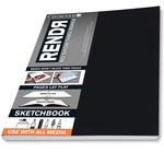 """Crescent Rendr No Show Thru Lay Flat Sketchbook 8.5x11"""" (48 sheets)"""