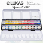 LUKAS Aquarell 1862 Artists' Watercolor Half & Whole Pan Sets