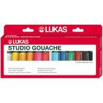 LUKAS Studio Gouache Pro Set of 12 20 ml Tubes