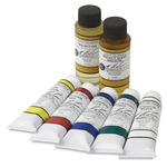 M. Graham Oil Color Set of 5, 37 ml Tubes with Mediums