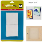 3x3in Mini Magnetic Paintable Canvas Squares Pack of 4