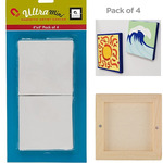 4x4in Mini Magnetic Paintable Canvas Squares Pack of 4