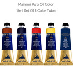 Maimeri Puro Oil Color 15ml Set Of 5 Color Tubes