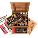 Maimeri Puro Oil Painting Walnut Luxury Box Set