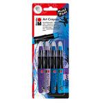 Marabu Art Crayon Blue Ocean Set of 4