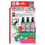 Marabu Fashion Fabric Spray Tropical Island  Set of 4 100 ML