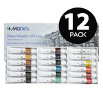 12-Pack Maries Water Mixable Oil Color 12ml Set Of 18