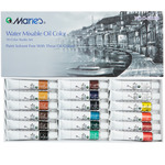 Maries Water-Mixable Oil Color Set of 18, 12ml Tubes Solvent-Free