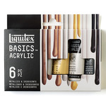 Liquitex Basics Acrylic 22 ml Metallic & Iridescent Set of 6 Tubes