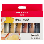 Amsterdam Standard Acrylic 20ml Metallics Set of 6