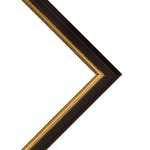 Millbrook Collection: Academy Black Frame .75in 18X24 With Acrylic