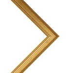 Millbrook Collection: Academy Gold Frame .75in 12X16 With Glass
