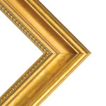"""Charleston 2"""" Wood Frame with 2mm glass and cardboard backing 12x16"""" - Gold"""
