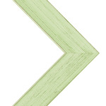 """Country Chic 1.5"""" Wood Frame with 2mm glass and cardboard backing 11x14"""" - Mint Julep"""