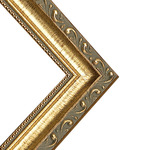 "Lincoln 1"" Wood Frame with 2mm glass and cardboard backing 12x16"" - Gold"